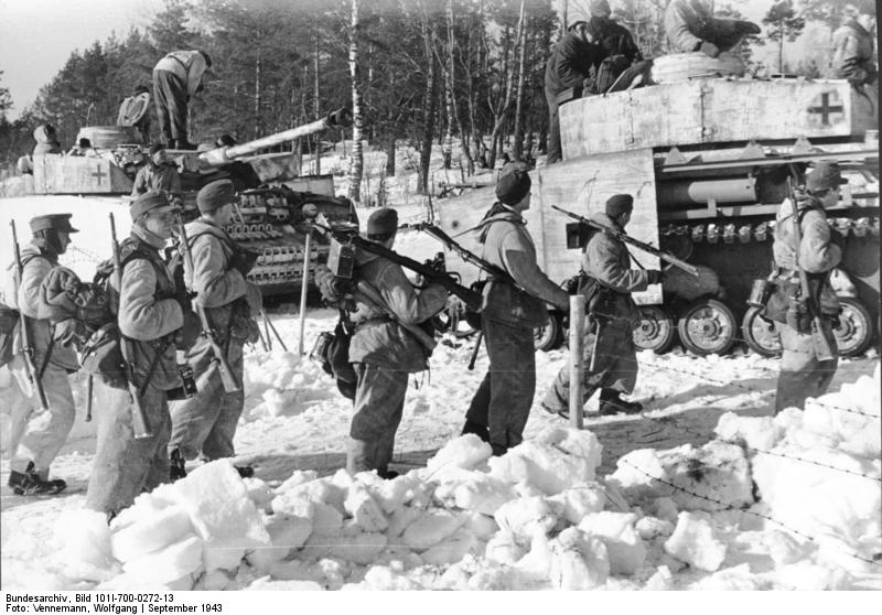 Romainian Troops Being Served Cake