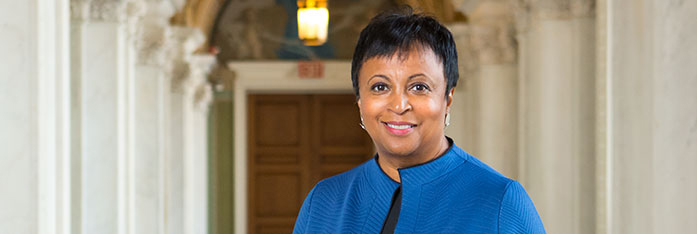 Carla Hayden was sworn in as the 14th Librarian of Congress on September 14, 2016, becoming both the first woman and the first African-American to hold the position.