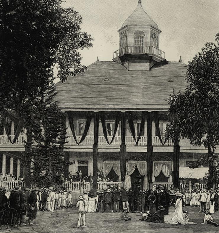 Chants funèbres exécutés devant le palais royal à la mort de Pomare V.jpg