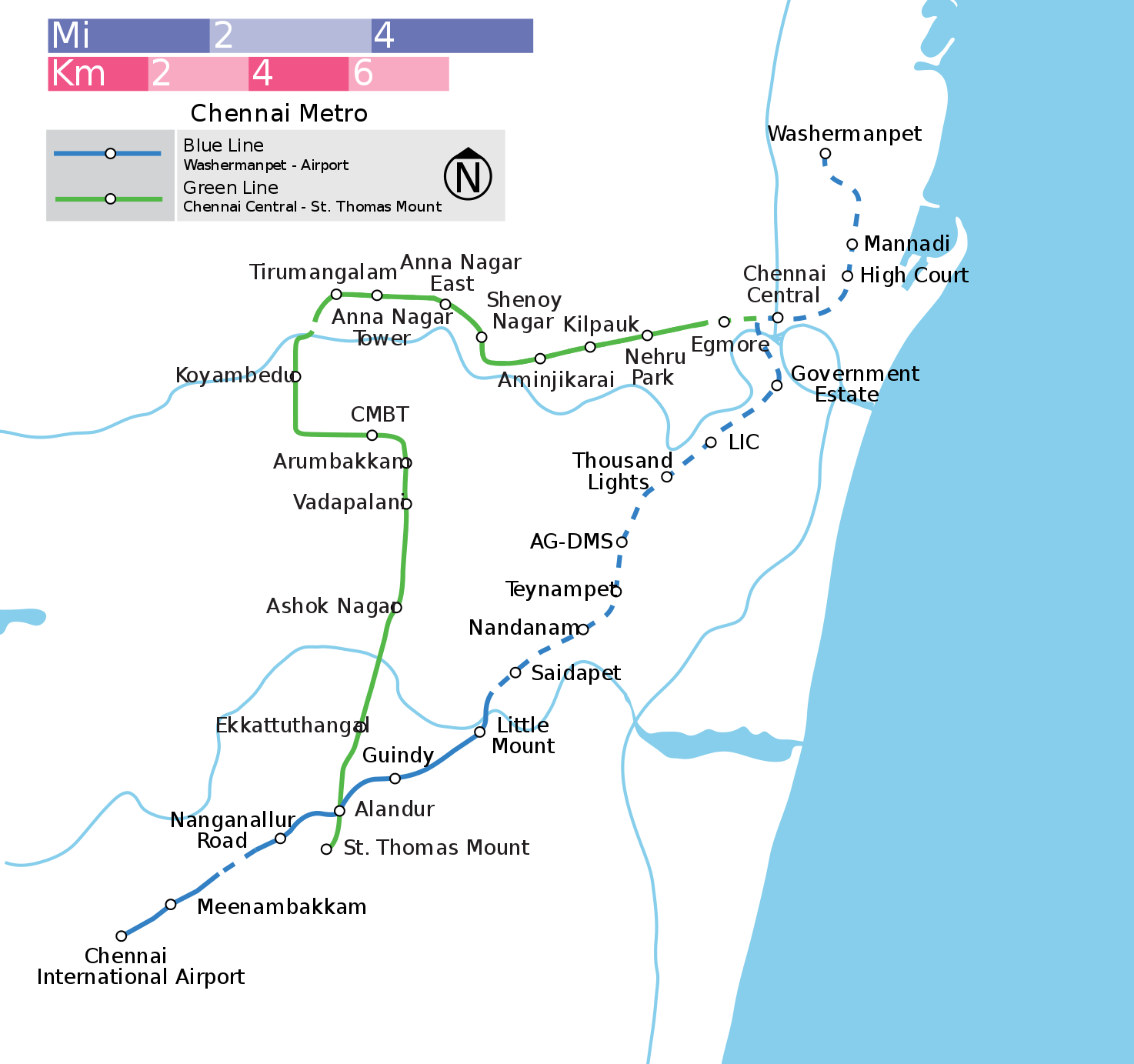 chennai district map