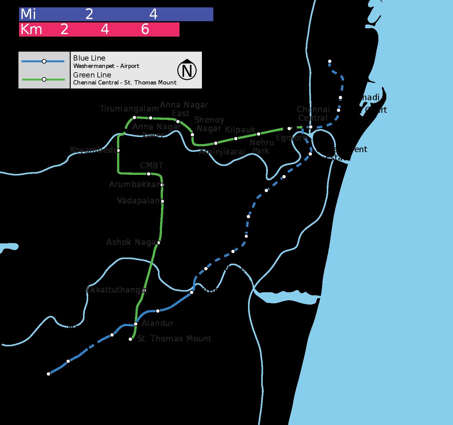 Chennai Metro Chennai subway