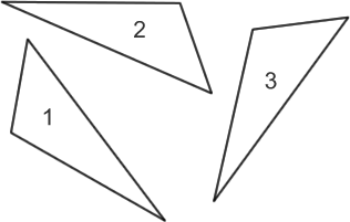 (Three congruent triangles)