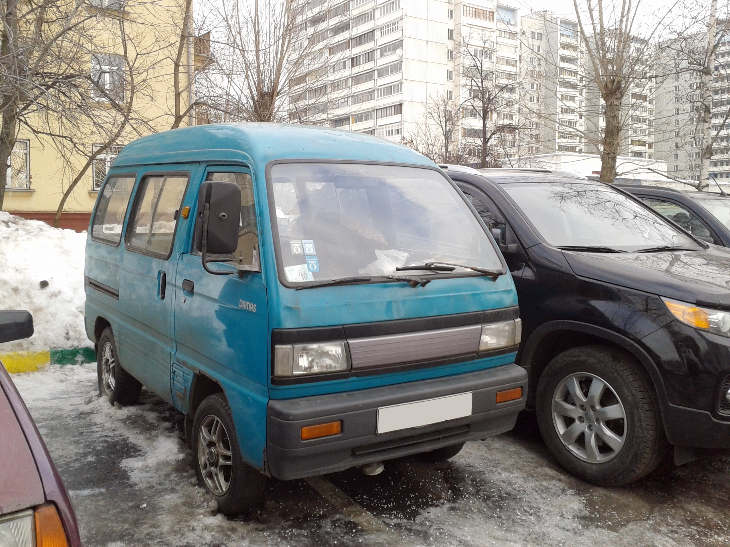 File:Daewoo Damas (1-st generation) in russian winter (front view ...