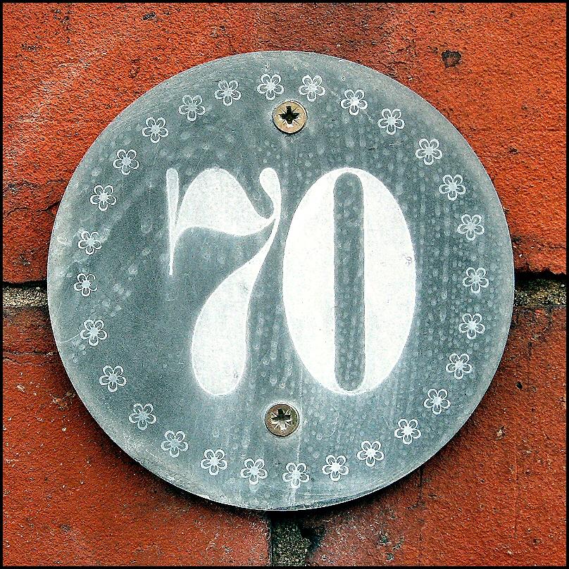 File Decorative Quot 70 Quot House Number Plaque Lincoln England