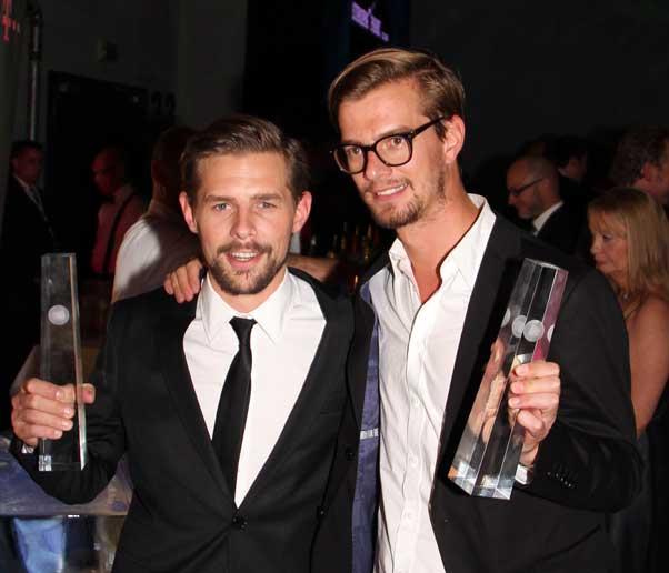 Heufer-Umlauf und Winterscheidt beim Deutschen Fernsehpreis 2012