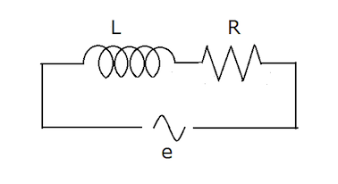 Diagram of a circuit with resistor and inductance.png