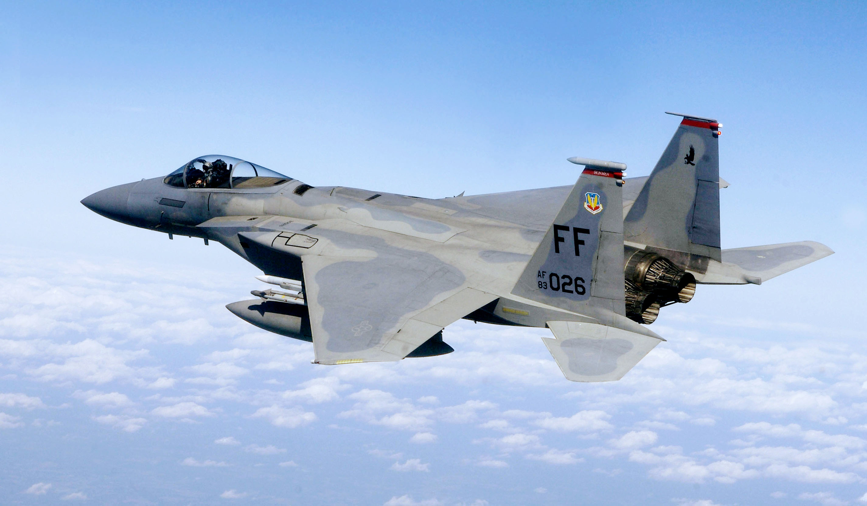 US Military Photos and Videos: F-15,_71st_Fighter_Squadron,_in_flight