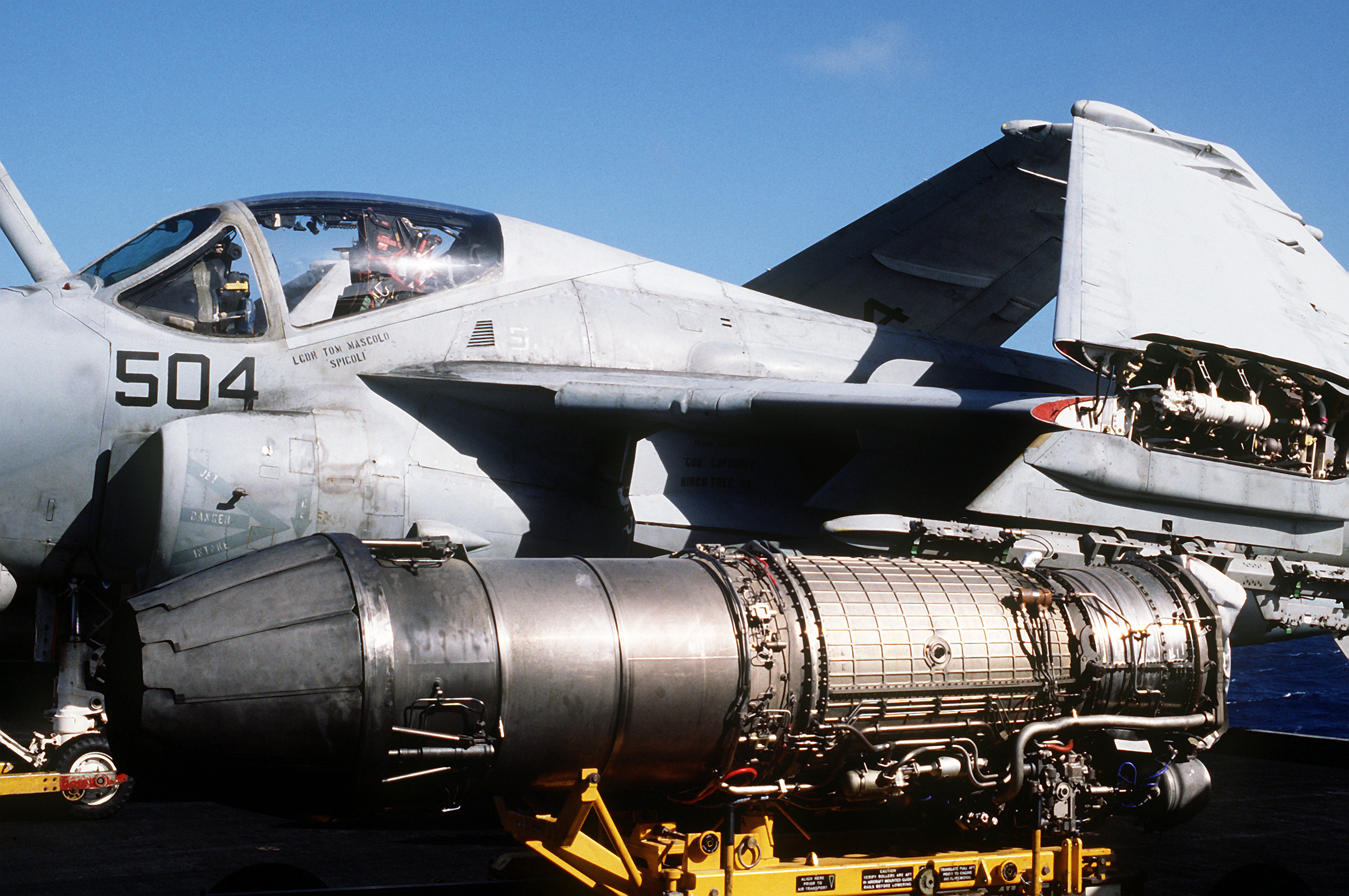 File F404 Turbojet Engine On Uss Abraham Lincoln Cvn 72