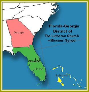 Map Of Georgia Florida.Florida Georgia District Of The Lutheran Church Missouri Synod