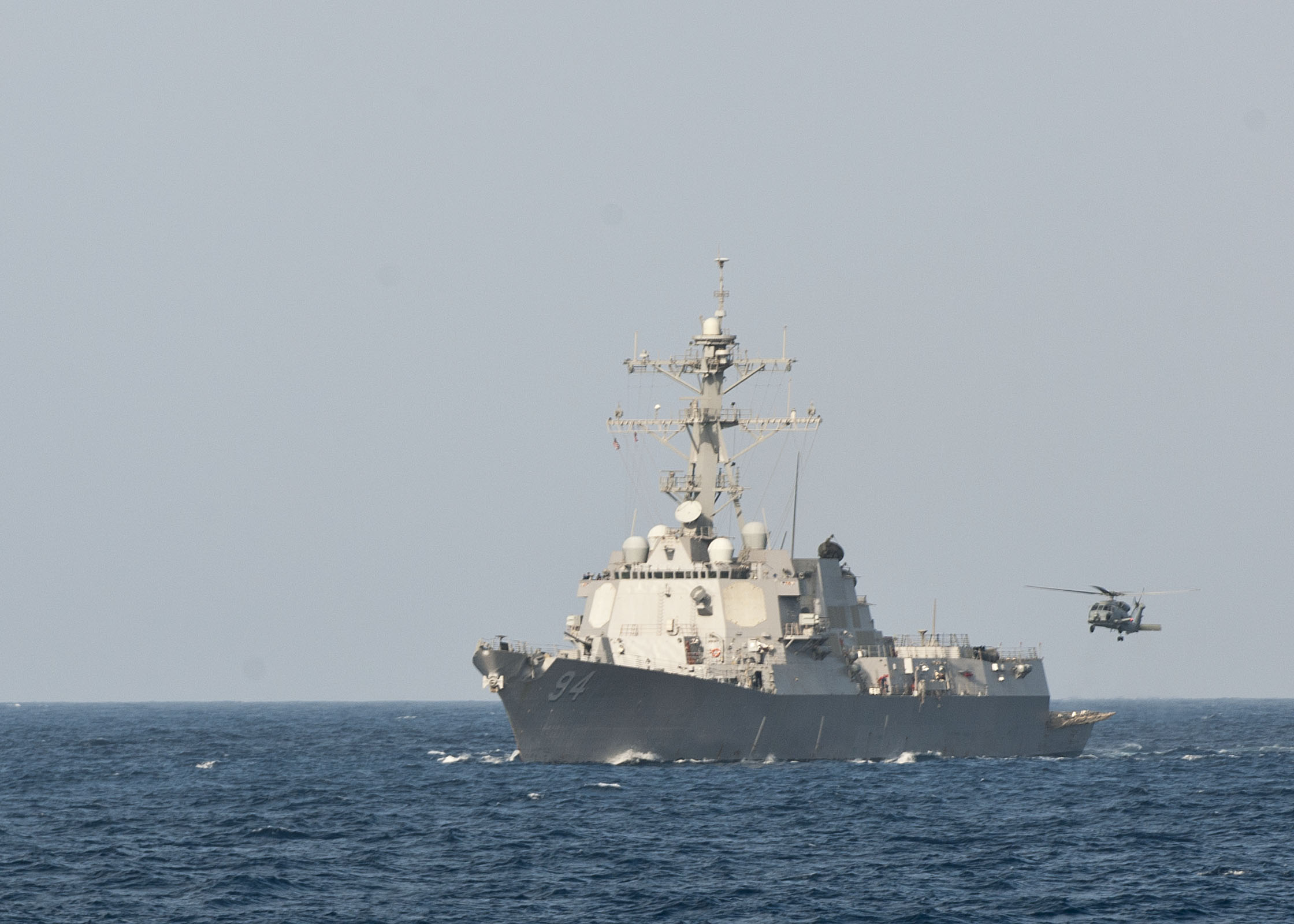 Flickr - Official U.S. Navy Imagery - A helicopter approaches USS Nitze to land..jpg