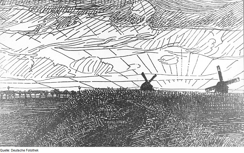 :Fotothek df rp-b 1000048 Windmühlen, Zeichnung von Rudolf Sievers ...