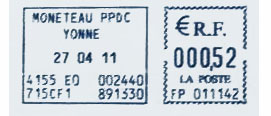 France stamp type DB11A.jpg