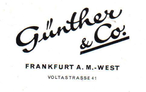 File:Frankfurt-Bockenheim Günther & Co., Voltastraße 41 Firmakopf.jpg