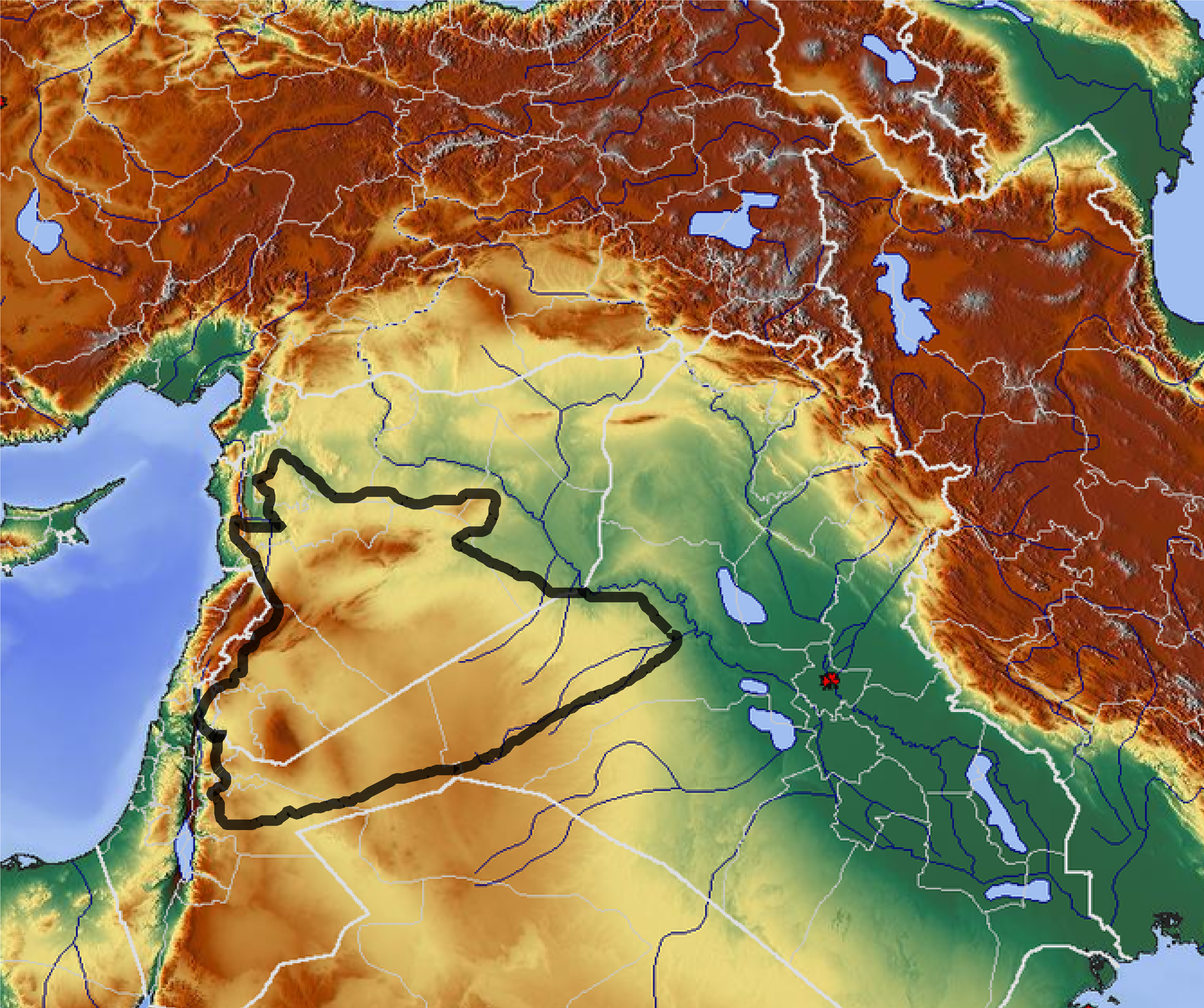 File:Geographical location of the Syrian desert.png - Wikimedia Commons