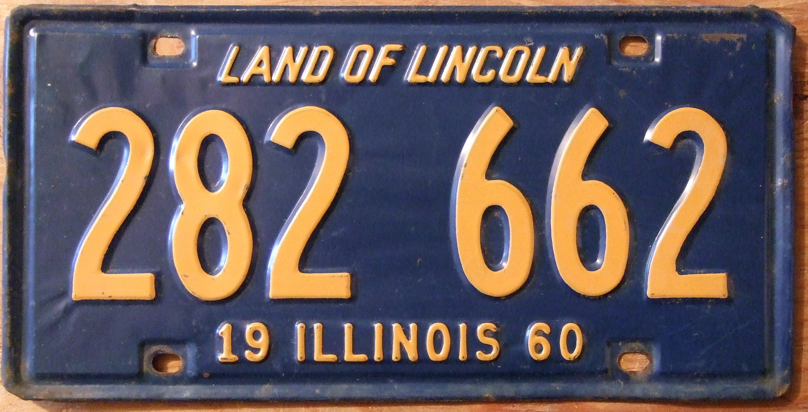File:ILLINOIS 1960 LICENSE PLATE 282-662 - Flickr - woody1778a.jpg ...