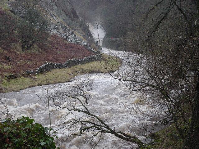 Ingleton Falls in Flood - geograph.org.uk - 107883
