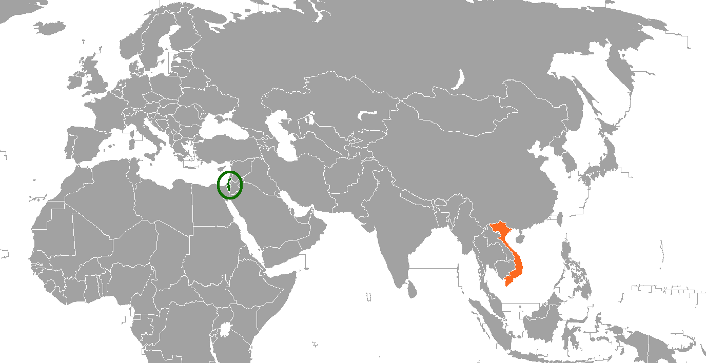 Israel On A Map Of The World.File Israel Vietnam Locator Png Wikimedia Commons