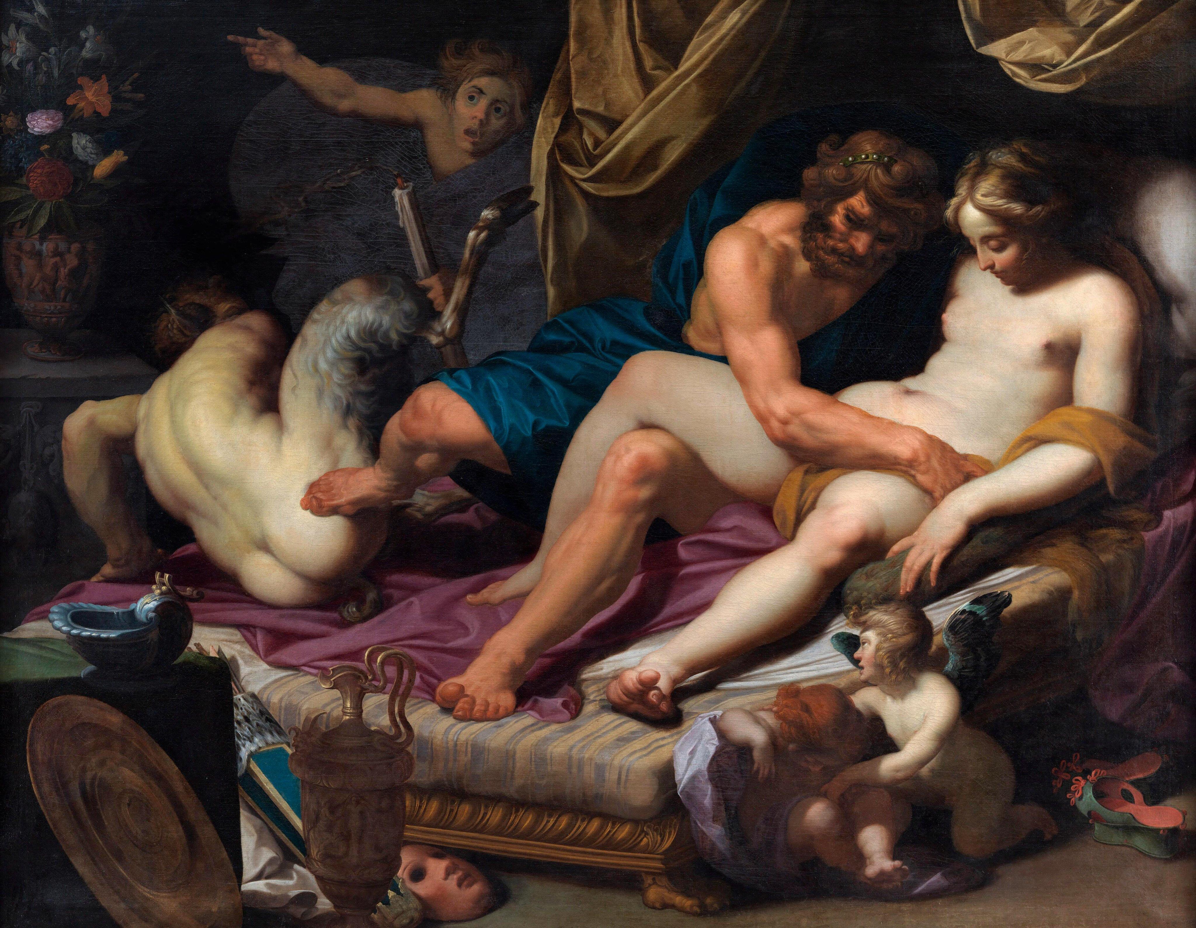 Abraham Janssens: Hércules y Ónfale (1607).