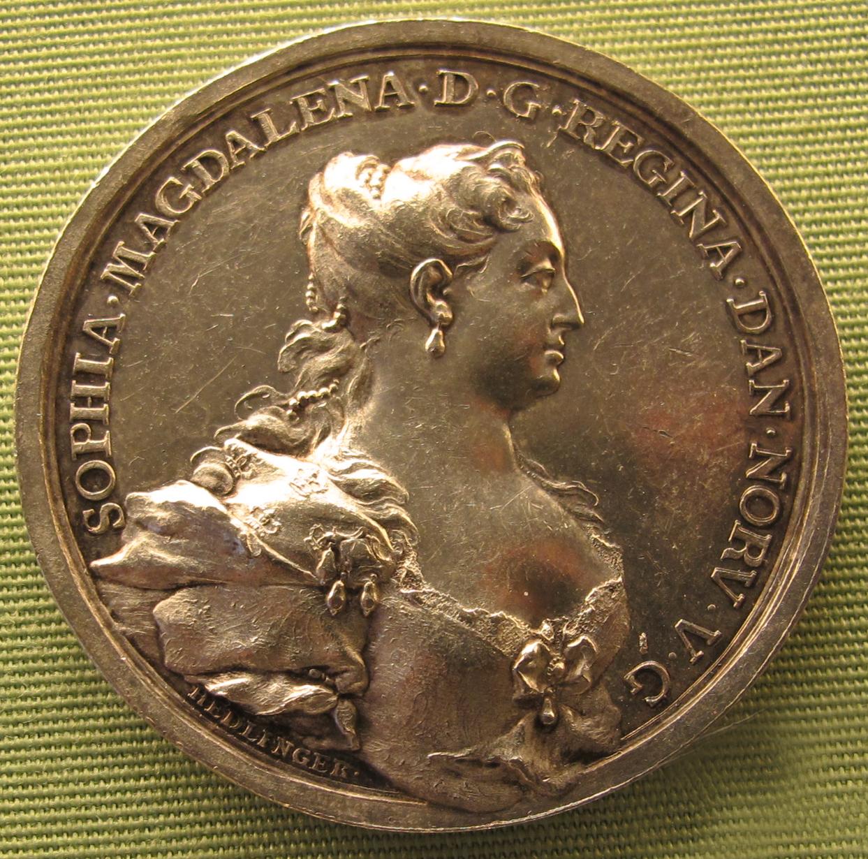 File:Johann carl hedlinger, sofia maddalena, regina di danimarca, 1737.JPG