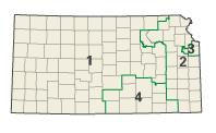 Kansas districts in these elections