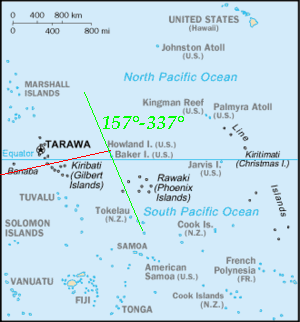 Map of Pacific region