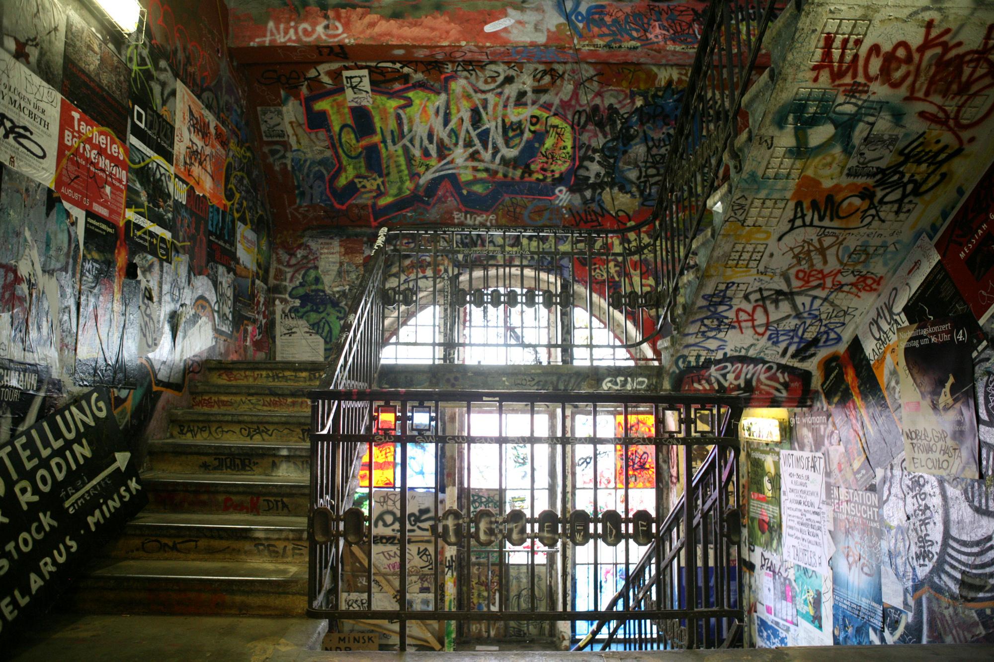 http://upload.wikimedia.org/wikipedia/commons/e/e6/Kunsthaus_Tacheles_stairway_with_Graffiti.JPG