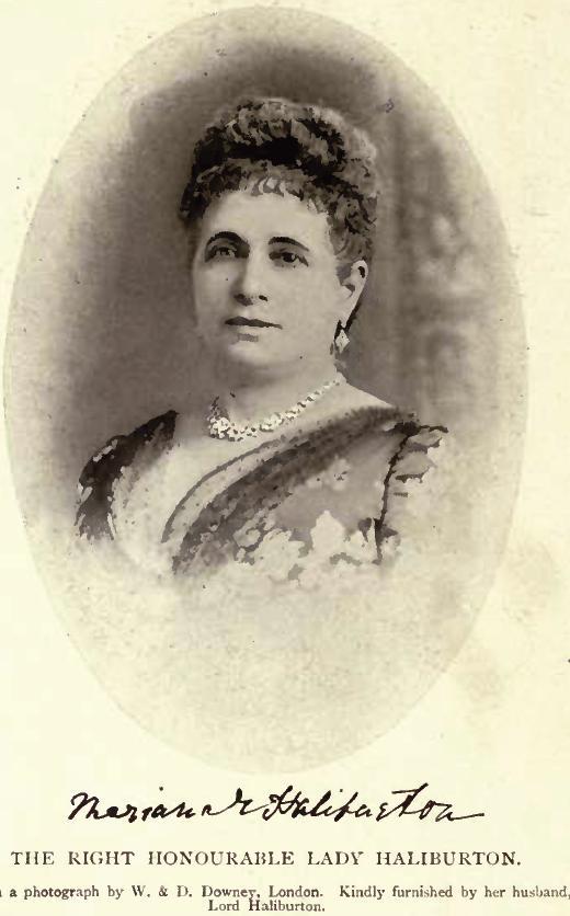 Mariana Emily Lady Haliburton by [[W. & D. Downey