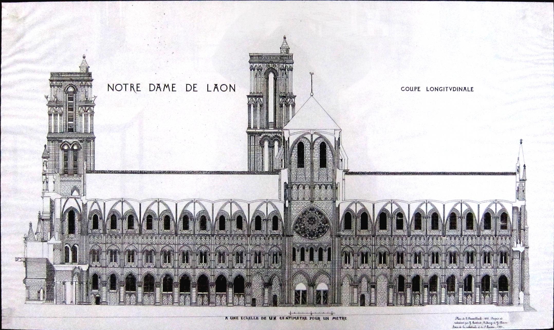 File laon cathedrale coupe jpg wikimedia commons - Elementi architettonici di una chiesa ...