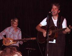 Jill Sobule and Lloyd Cole during a concert in Seattle