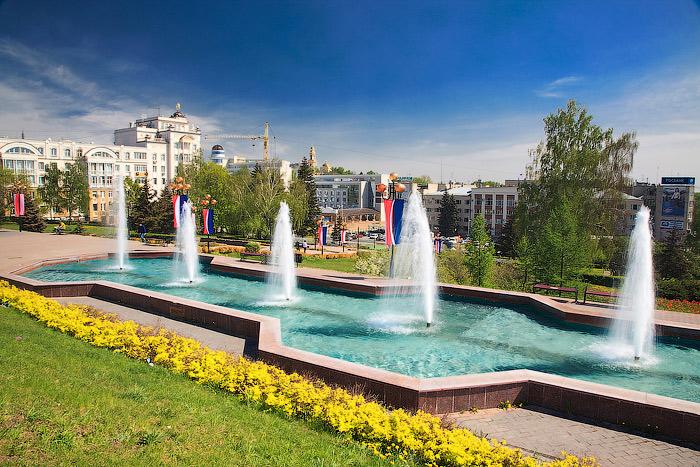 Фонтани в місті Липецьк