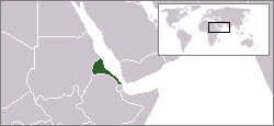 Location of Eritrea