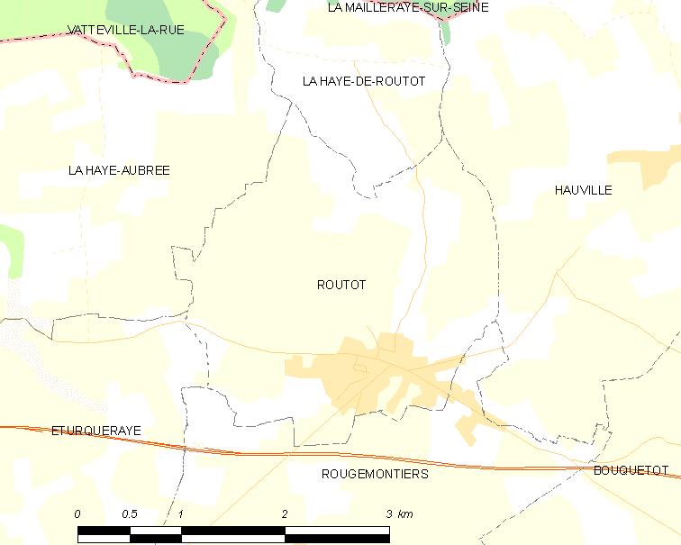 Routó locator map
