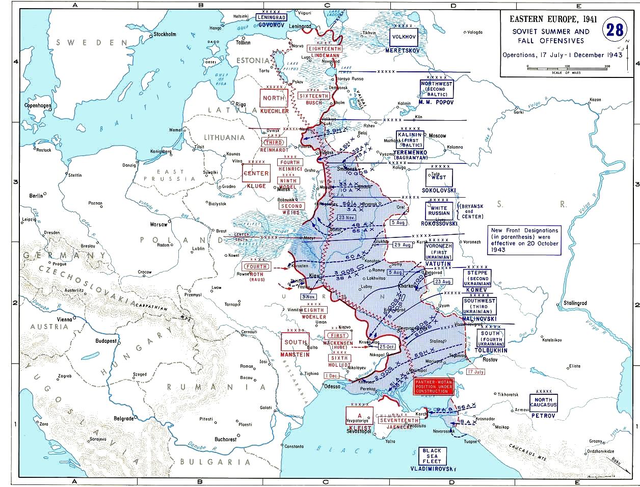 Frontverlauf Dezember 1943