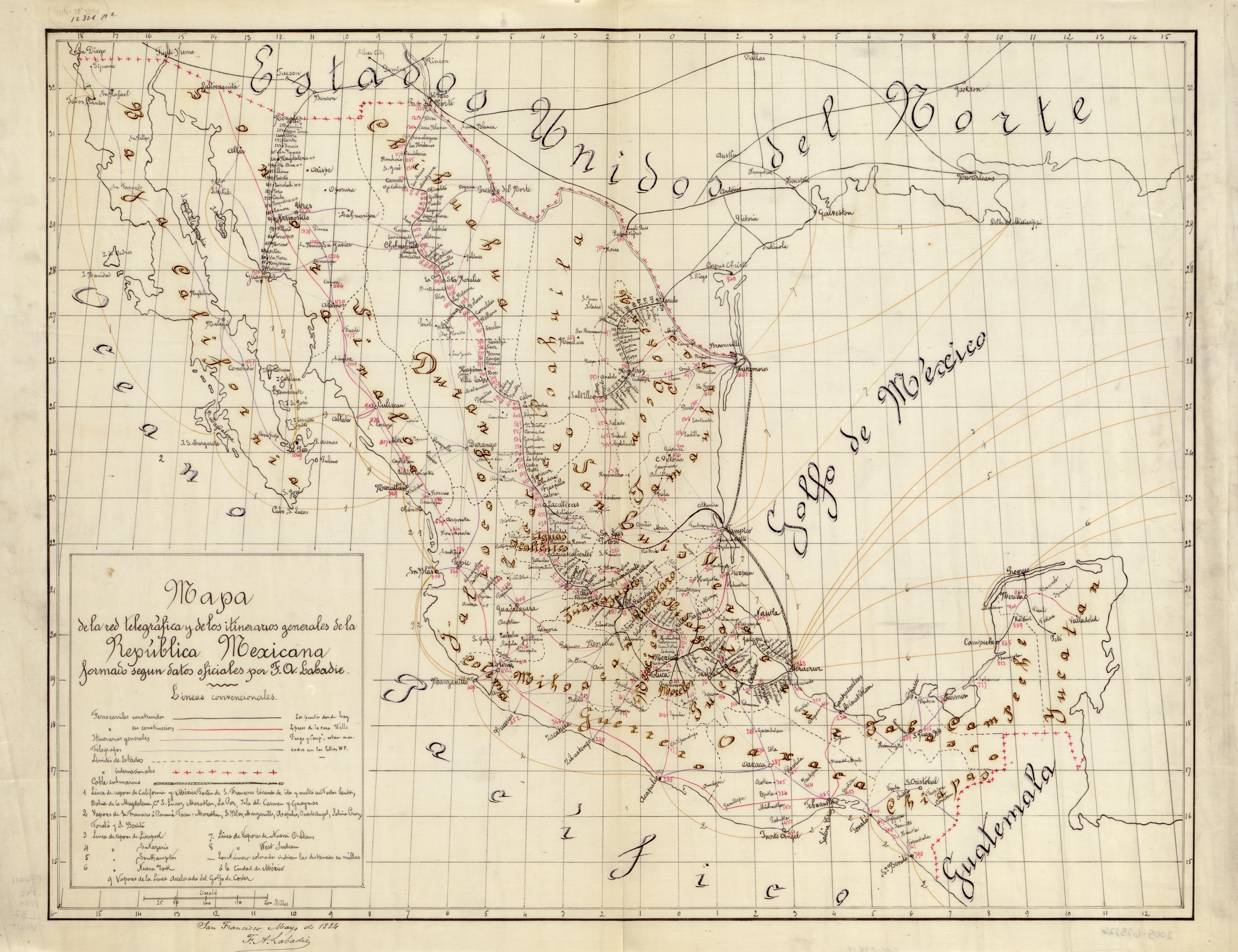 File Mapa De La Red Telegrafica Y De Los Itinerarios Generales De