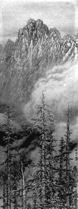 Painting of Yushan by Nasu Masaki (那須雅城).