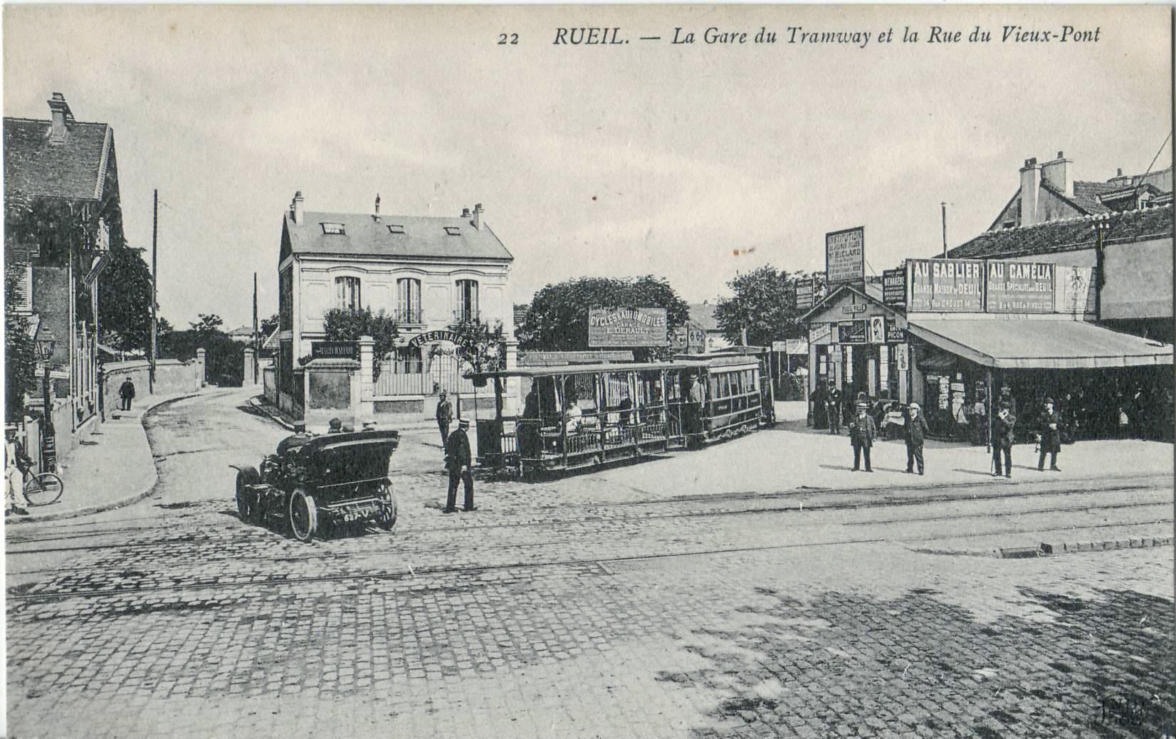File nd 22 rueil la gare du tramway et la rue du vieux - Piscine de rueil malmaison ...