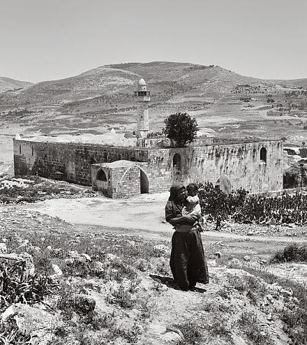 Nabi Yahya Mosque, the traditional burial site in Sebastia, near Nablus, the West Bank, the Levant. Nabi Yahya Mosque, Sebastia, c. 1920.jpg