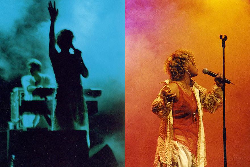 Neneh Cherry en una de sus presentaciones en vivo en Austria, durante la gira ''Man-Tour'' de 1996