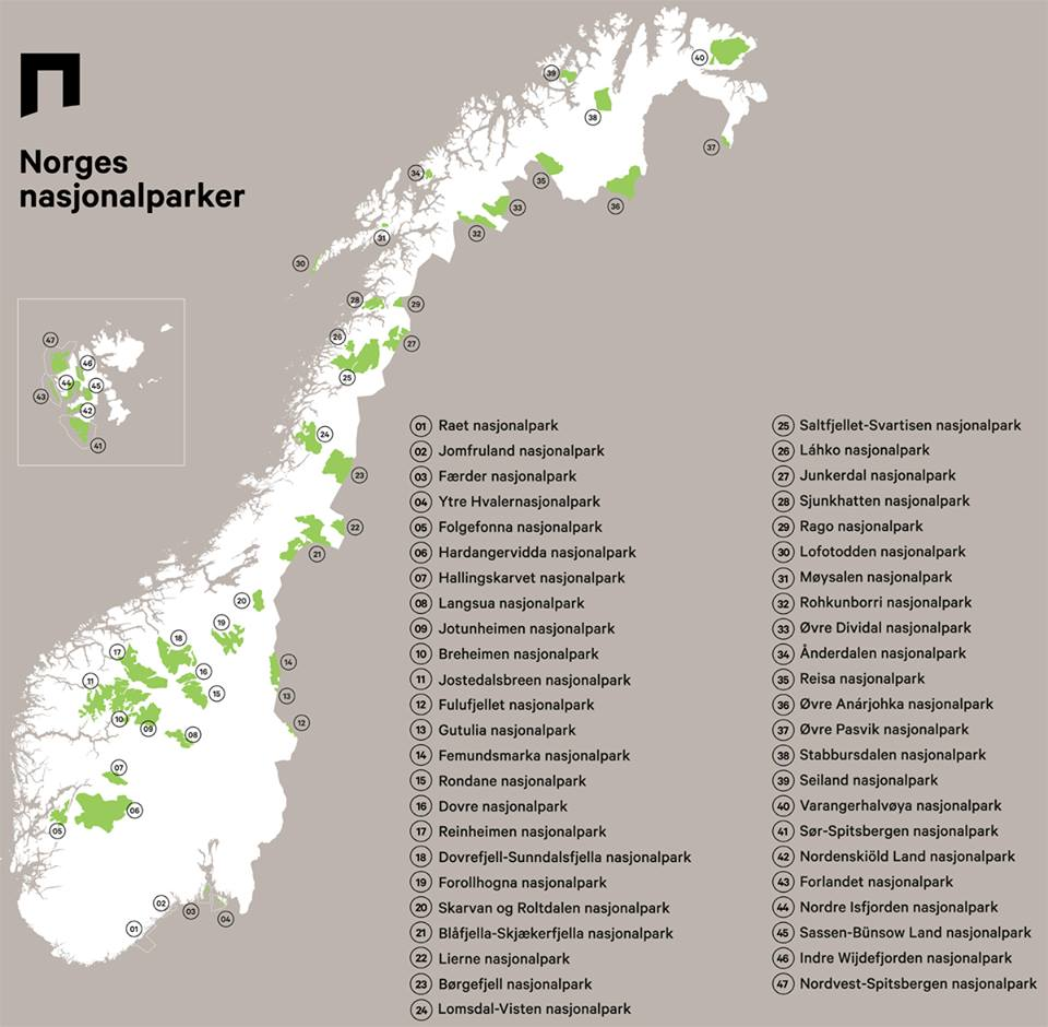 camping østfold kart List of national parks of Norway   Wikipedia