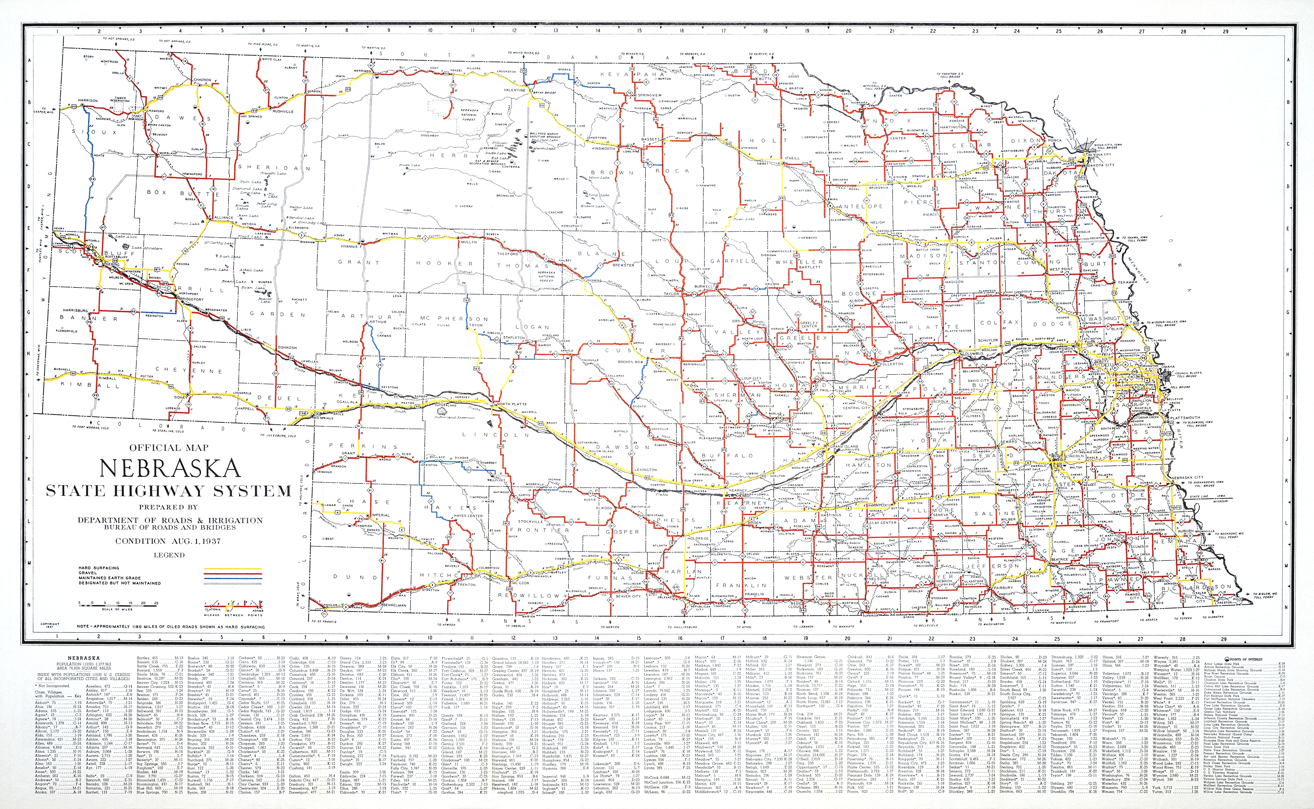 FileOfficial Map Nebraska State Highway System Png - State map of nebraska