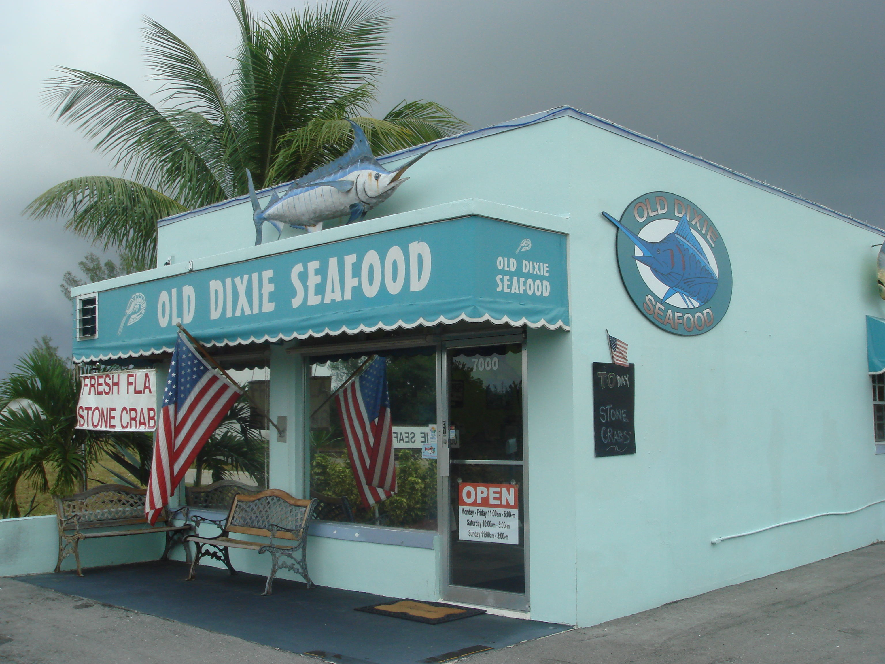 File old dixie seafood exterior boca culture for Fish market boca raton