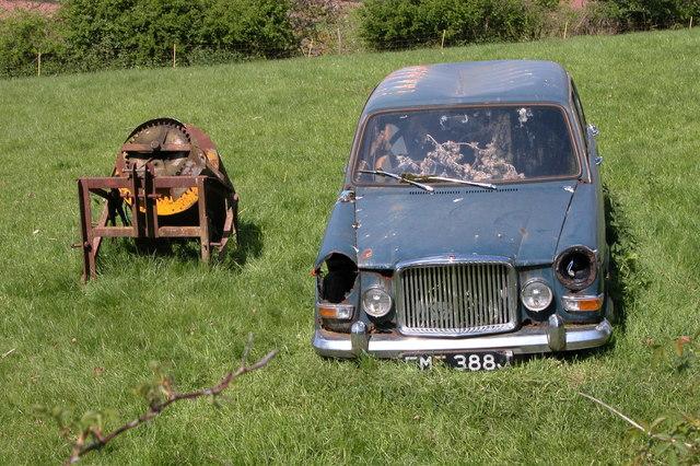 File Old Car Rusting Away Ridge Hill Geograph Org Uk 167234