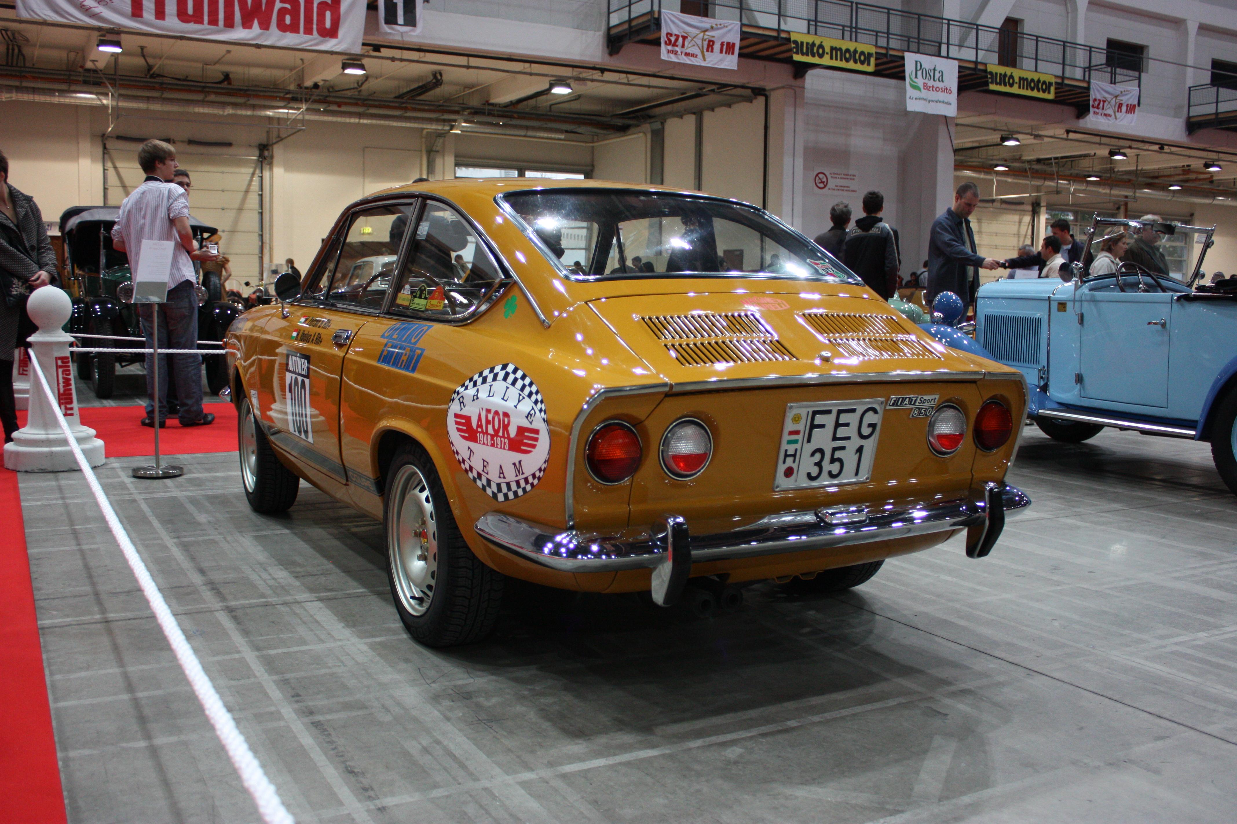 File Oldtimer Show 2008 049 Fiat 850 Sport Rear Jpg Wikimedia Commons