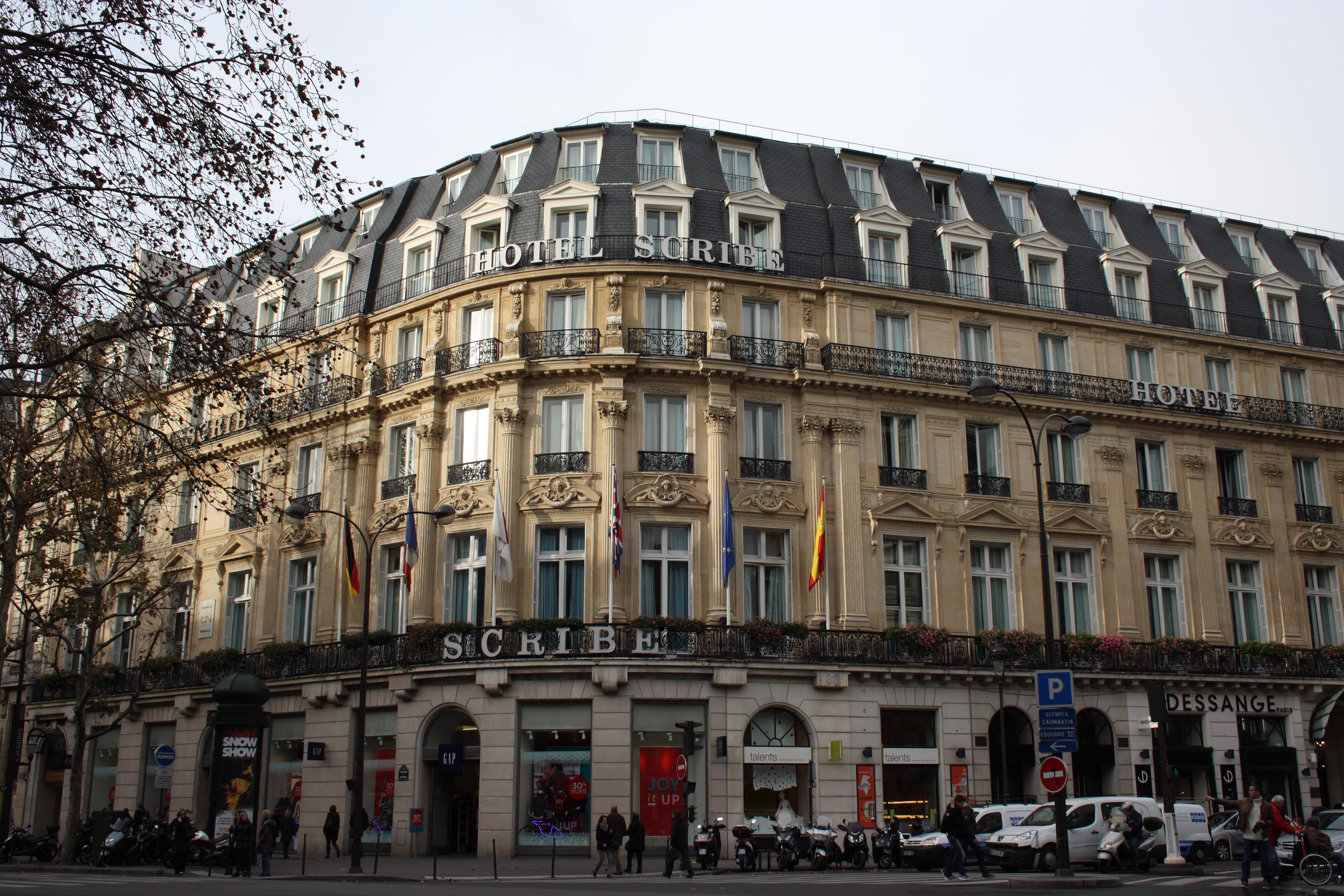 Hotel Scribe Paris Wikipedia