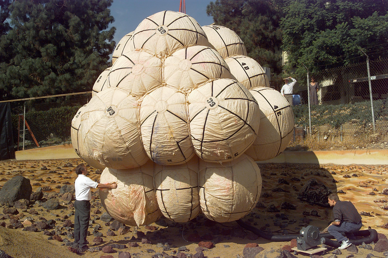 Test dei palloni del Mars Pathfinder