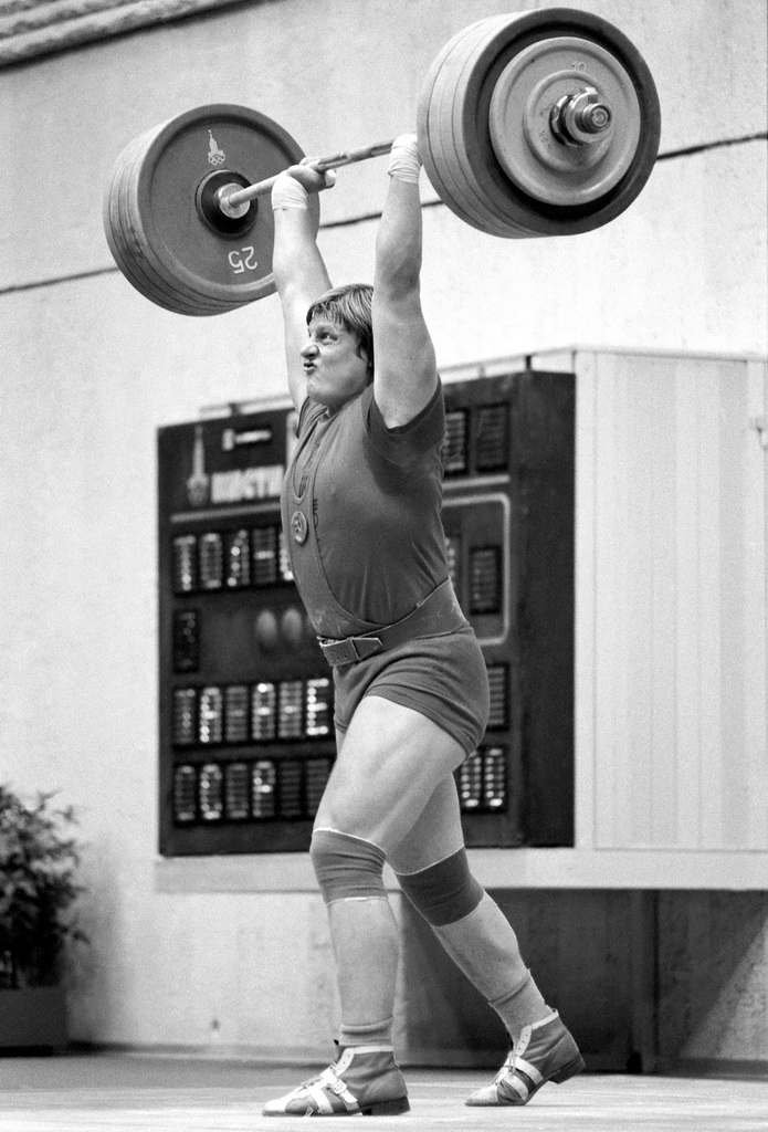 Weight Lifting Chart: RIAN archive 371702 1980 Olympic weightlifting champion ,Chart