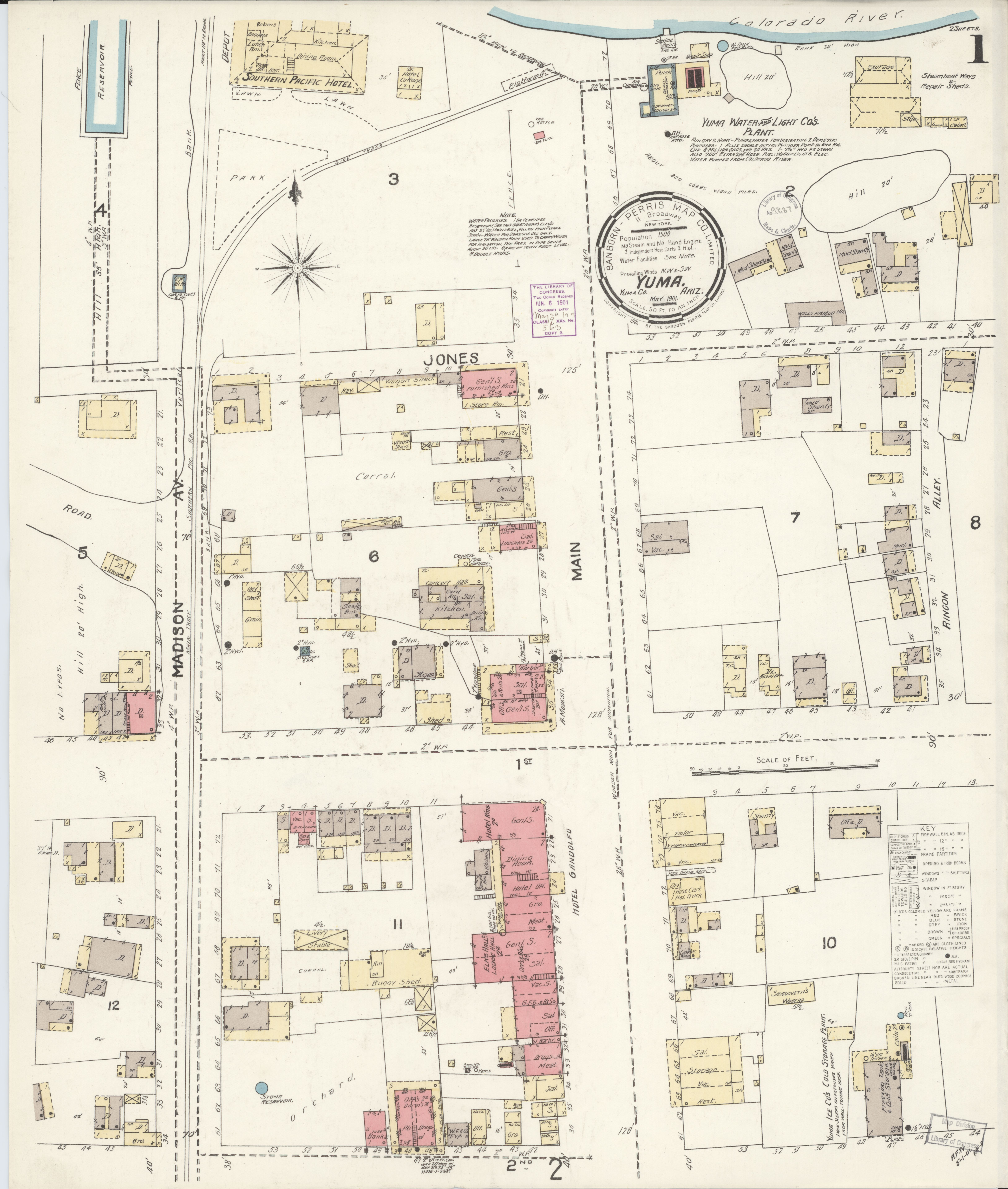 File:Sanborn Fire Insurance Map from Yuma, Yuma County, Arizona. LOC on porterville street map, ouray street map, apache junction street map, ft. huachuca street map, el centro street map, clifton street map, san tan valley street map, south phoenix street map, cave creek street map, logan street map, sun city street map, anthem street map, santa cruz county street map, surprise street map, ishpeming street map, chino street map, mohave street map, nogales street map, woodland park street map, cesar chavez street map,