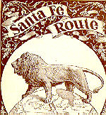 AT&SF trademark in the late 19th century incorporated the British lion out of respect for the country's financial assistance in building the railroad to California