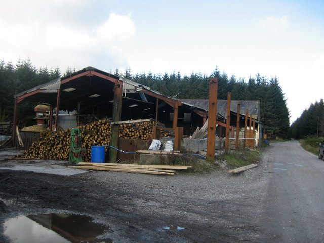Sawmill in Gisburn Forest - geograph.org.uk - 595663