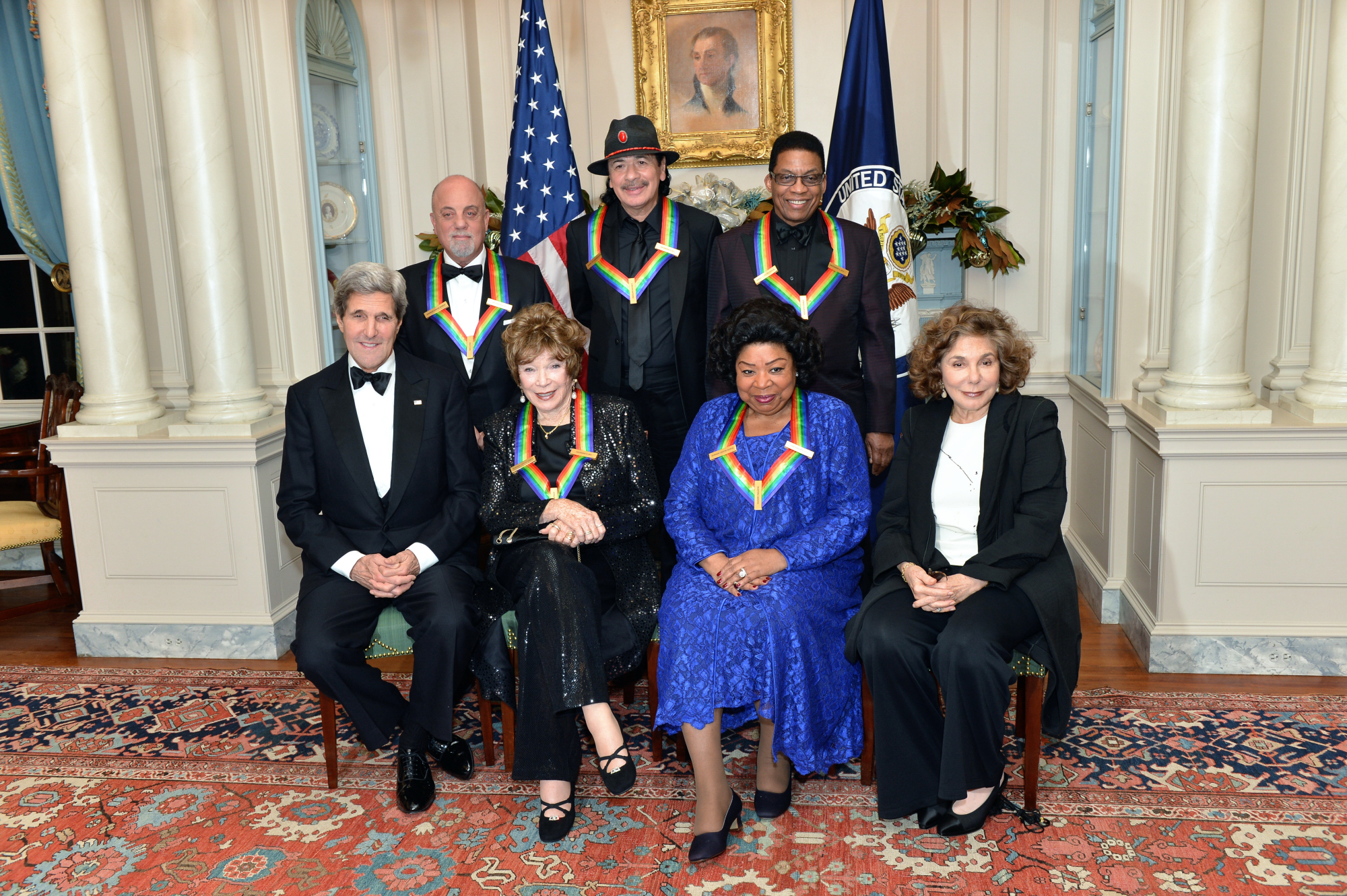 Billy Joel in a group picture with his fellow 2013 Kennedy Center honorees.